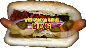 Hot Dogs Menu - The Santa Cruz Dog